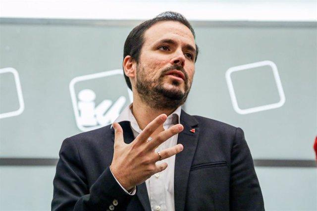 El futuro ministro de Consumo, Alberto Garzón, a 11 de enero de 2020.