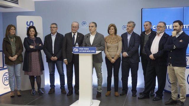 El presidente del PP de Málaga, Elías Bendodo, presenta el Comité Institucional.