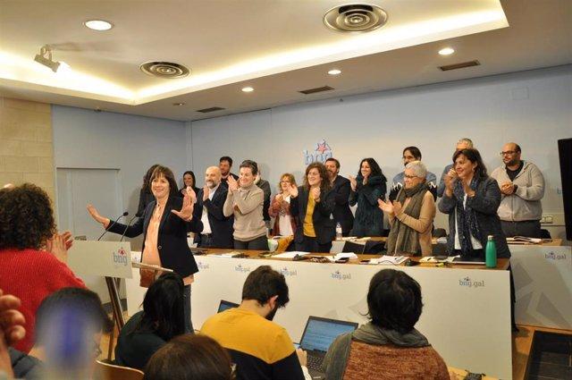 La portavoz nacional del BNG, Ana Pontón, interviene ante el Consello Nacional del Bloque.