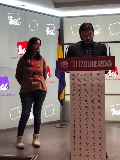 Carolina Cordero y Álvaro Aguilera sustituyen a Sol Sánchez y Mauricio Valiente como nuevos coportavoces de IU Madrid