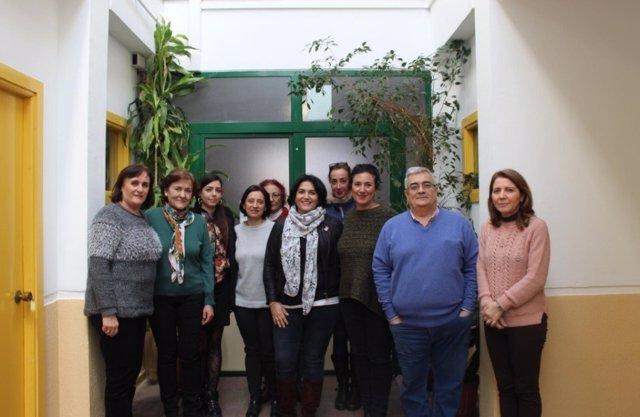 La teniente de alcalde de Servicios Sociales e Igualdad, Eva Timoteo, en el Centro de Servicios Sociales de la zona Centro-Ribera