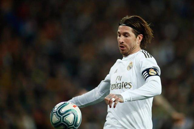 Sergio Ramos, durante un partido con el Real Madrid.