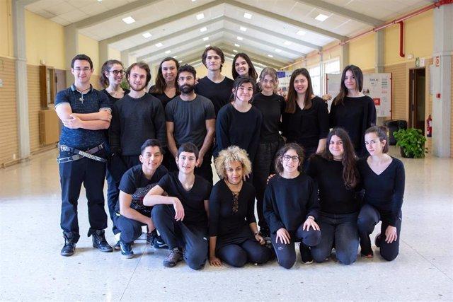 Imagen de archivo del grupo de teatro de la UPNA