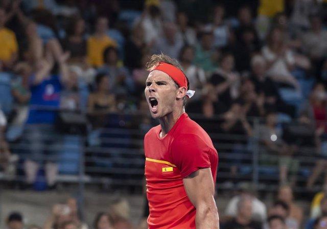 Rafa Nadal en la ATP Cup 2020