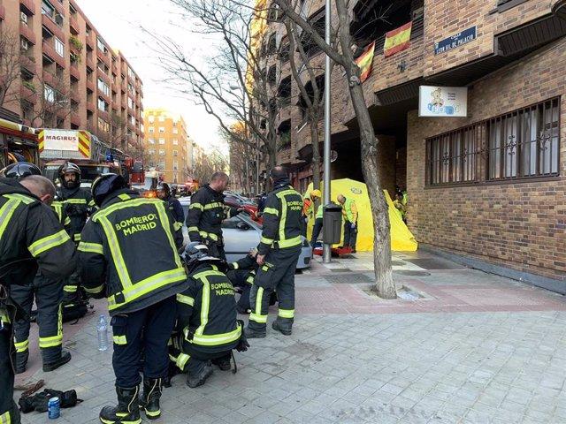 Muere una anciana en el incendio de su piso en Retiro