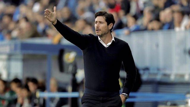 El entrenador del Málaga, Víctor Sánchez del Amo