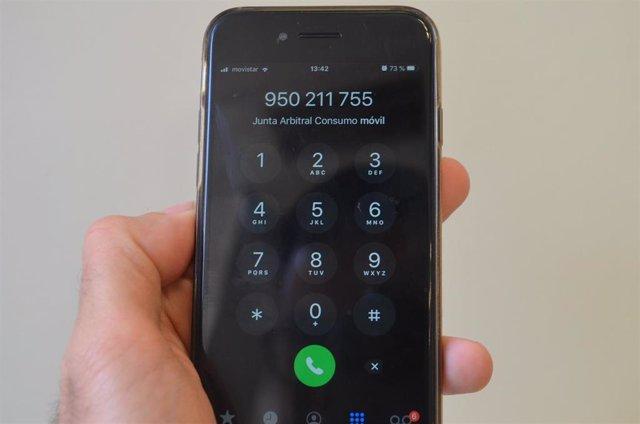 Teléfono de contacto con la Junta Arbitral de Consumo