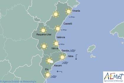 Cielos despejados y temperaturas máximas de 15 grados este domingo en la Comunitat Valenciana