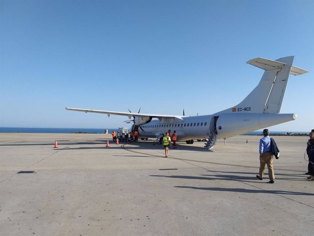 Avión que opera el vuelo entre Almería y Sevilla