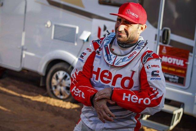 Paulo Gonçalves, durant el Ral·li Dakar 2020.