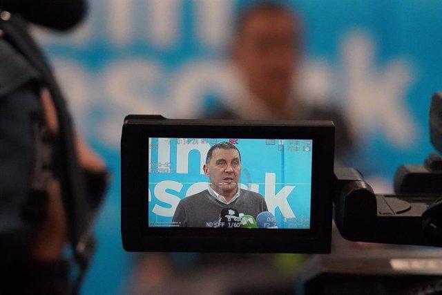 El coordinador general de EH Bildu, Arnaldo Otegi, en la manifestación por los derechos de los presos de ETA en Bilbao a 11 de enero de 2020