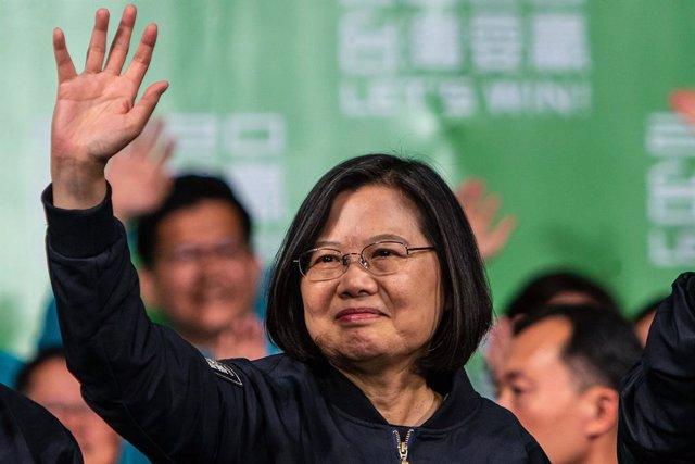 China.- Los manifestantes de Hong Kong piden precaución a la presidenta de Taiwá