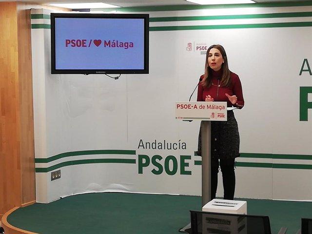 La portavoz de Educación del Grupo Parlamentario Socialista y secretaria de Políticas Migratorias y Andaluces en el Exterior del PSOE-A