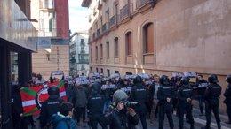 Manifestación antifascista en Pamplona