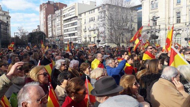 Concentración convocada por Vox en Santander