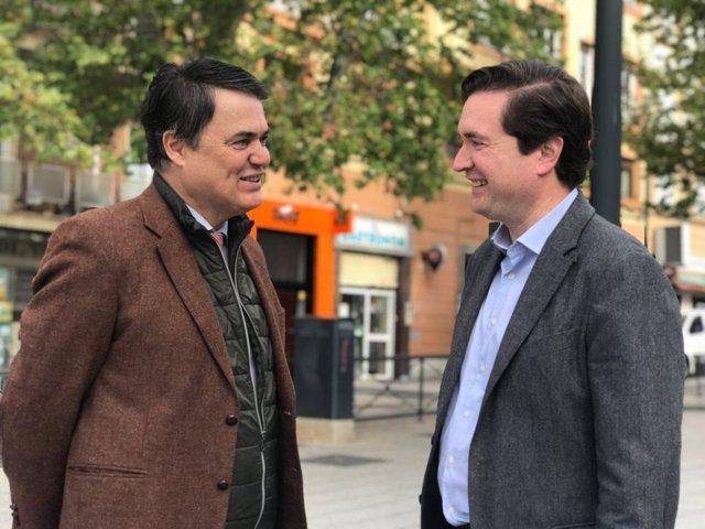 Los diputados nacionales del PP, Carlos Rojas y Pablo Hispán