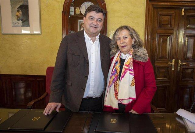 Ayuntamiento colabora con el comedor social de la asociación Virgen de la Cinta.