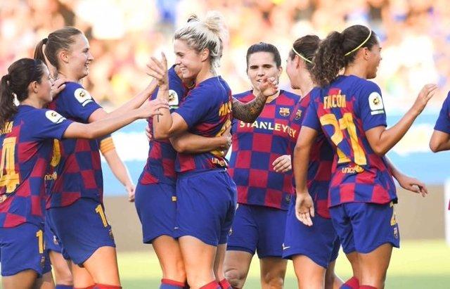 Jugadoras del FC Barcelona femenino