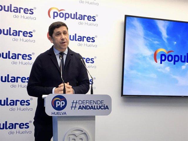 """Huelva.- El PP recrimina al PSOE que """"siga defendiendo a condenados"""" por los ERE en vez de """"pedir perdón"""""""