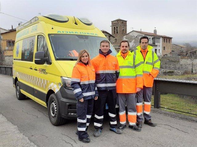 La UME de las comarcas de Sobrarbe y Ribagorza, con parte de su personal.