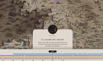Mapa interactivo de The Witcher que explica el timeline de Geralt de Rivia