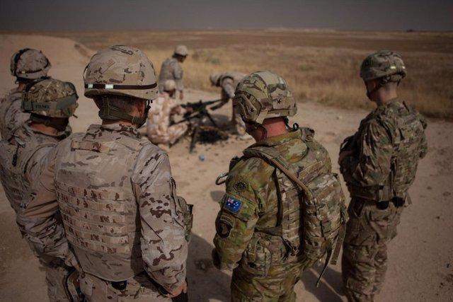 Militars de la coalició internacional a l'Iraq.