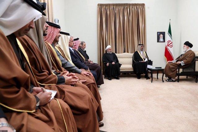 Jamenei y Al Zani en Teherán