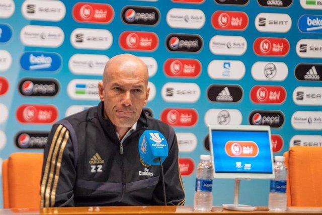 """Fútbol/Supercopa.- Zidane: """"Lo que me interesa es darlo todo, creer en lo que ha"""