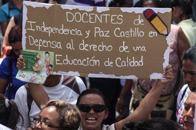 """Venezuela.- Un sindicato de profesores de Venezuela anuncia una """"gran actividad"""""""