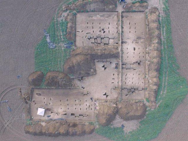 Foto aérea de asentamiento neolítico utilizado para el estudio