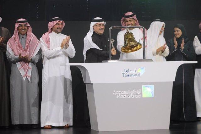 Cerimònia de la sortida a borsa de Saudi Aramco