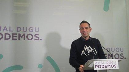 """Podemos no ve """"razón"""" para adelantar las elecciones vascas cuando """"se acaban de aprobar los presupuestos"""" para 2020"""