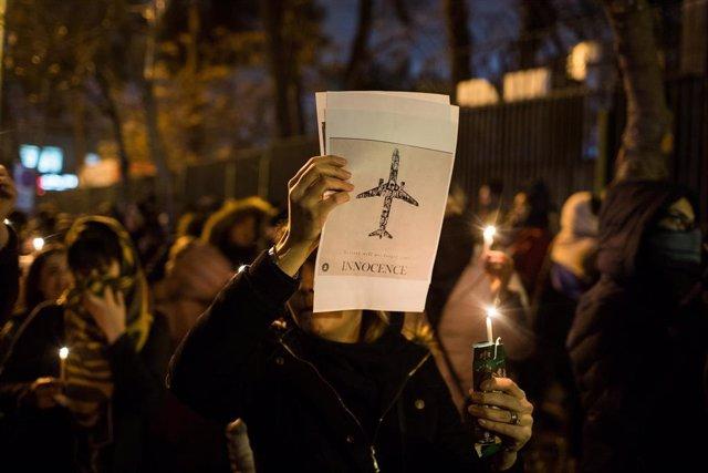 Protestas en Teherán tras el derribo del avión ucraniano