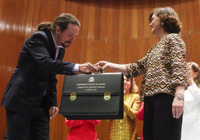 El vicepresidente de Derechos Sociales y Agenda 2030 para el Gobierno de coalición de PSOE y Unidas Podemos en la XIV Legislatura, Pablo Iglesias
