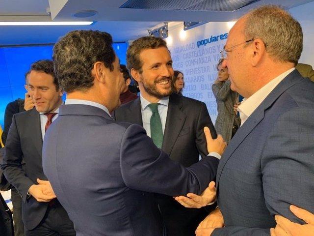 Monago con Pablo Casado en la Junta Directiva Nacional