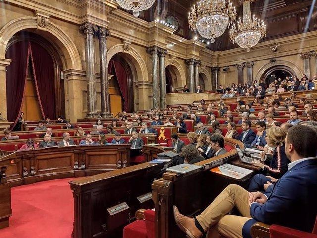 Ple del Parlament de Catalunya, 18 de desembre del 2019
