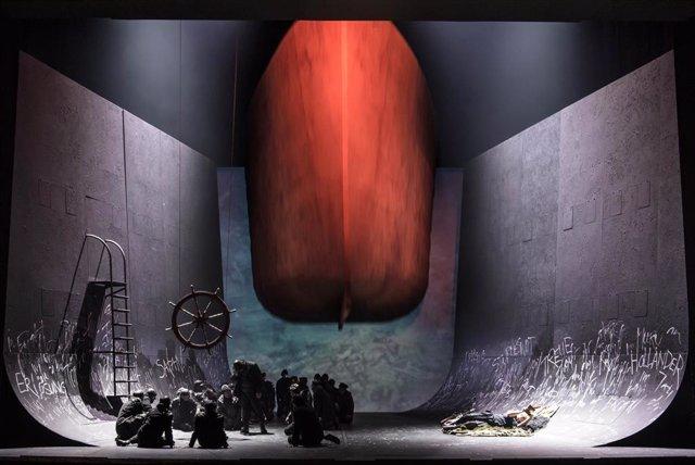 Imagen de la representación 'Der fliegende holländer' de Wagner (archivo)