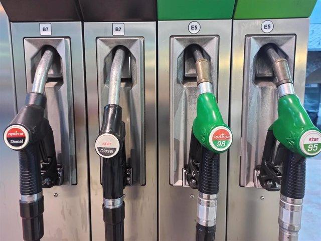 Los surtidores de carburante de una estación de servicio céntrica de Andorra la Vella