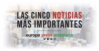 Las cinco noticias más importantes de Europa Press Andalucía este lunes 13 de enero a las 19 horas