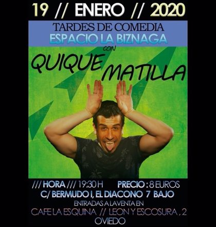 El monologuista Quique Matilla actúa este domingo en Oviedo