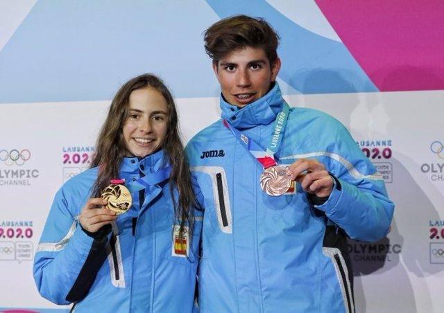JJ.OO.- María Costa y Ot Ferrer, oro y bronce en la prueba sprint de esquí de mo