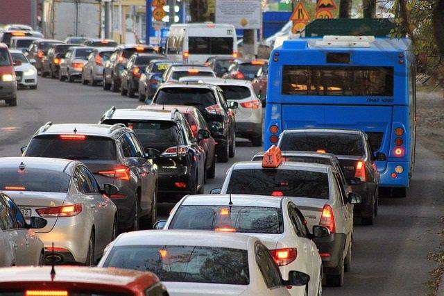 Atasco de tráfico.
