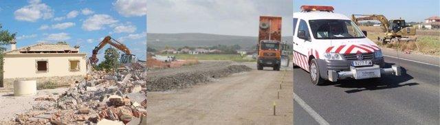 La UCO prueba los escombros como materia prima para carreteras