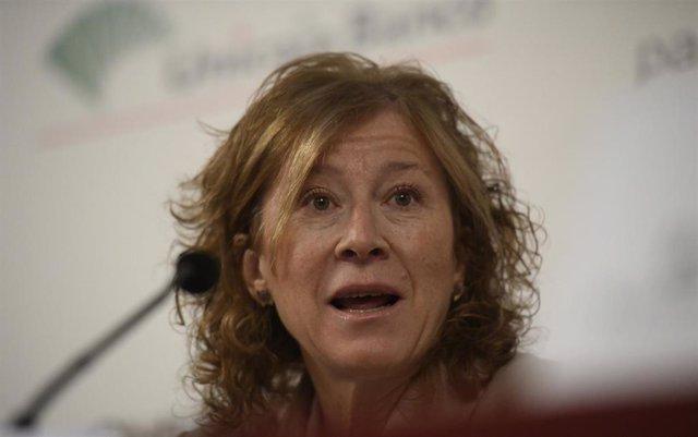 La subgobernadora del Banco de España, durante su intervención en un desayuno informativo sobre 'La Unión Bancaria Europea' organizado por el Club de Diálogos para la Democracia, en Madrid (España), a 14 de enero de 2020.