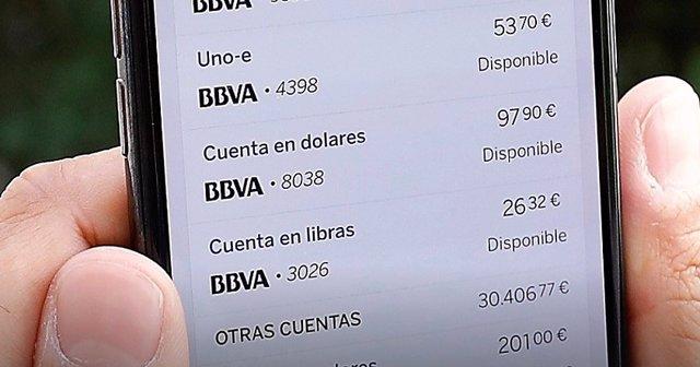 Foto de recurso de la aplicación móvil de BBVA. Agregador financiero de BBVA