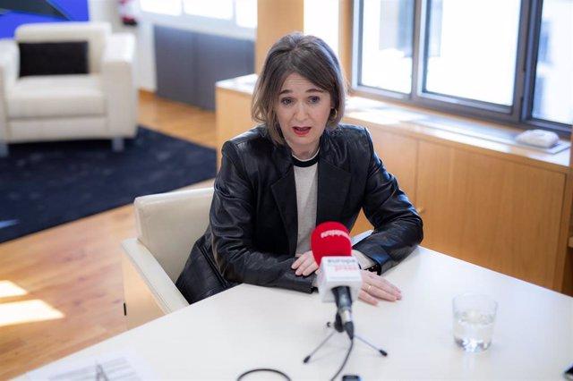 La consejera de Cultura de la Comunidad de Madrid, Marta Rivera de Ciudadanos durante su entrevista para Europa Press, en la Consejería, en Madrid (España), a 8 de enero de 2020.