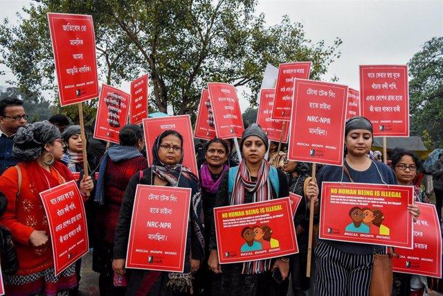 Manifestación en contra de la nueva ley de ciudadanía en India