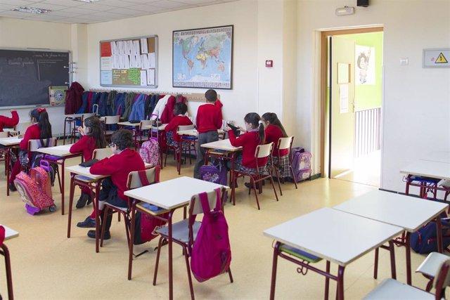 Aula de un colegio en Madrid.