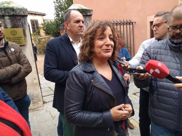 Iratxe García destaca el compromiso del PSOE por la cultura y por el trabajo en el medio rural