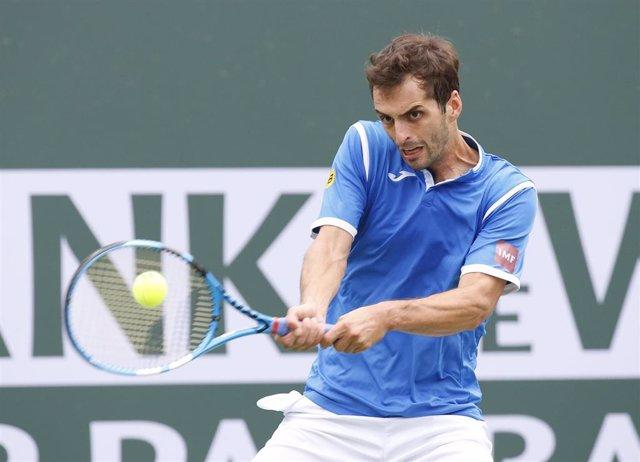 El tenista español Albert Ramos durante un torneo